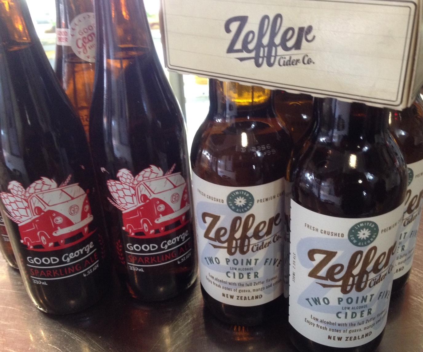 Good George Beer, Zeffer Cider, at Rouge, Cambridge