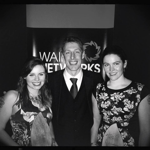 Lauren, Phil and Alana, at the Waipa Networks Business Awards
