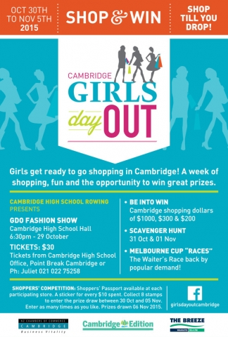 Girls Day Out in Cambridge, shop to win
