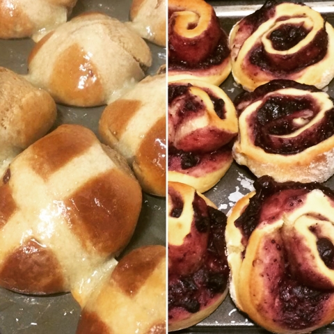 Hot cross brioche for Easter at Rouge