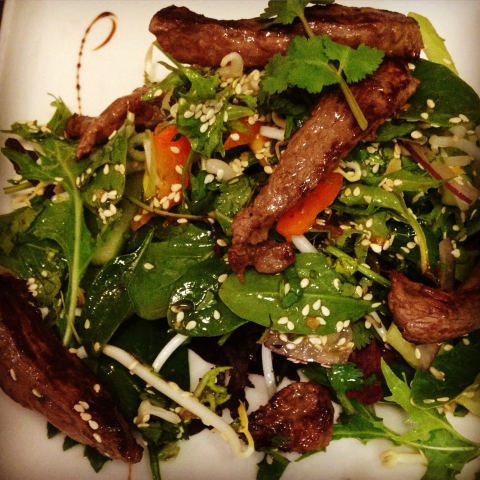 Thai Beef salad at Rouge Cafe, Cambridge